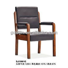 SJ1061C 2012 Hot Selling Stylish Wooden Arms Office Meeting Chairs