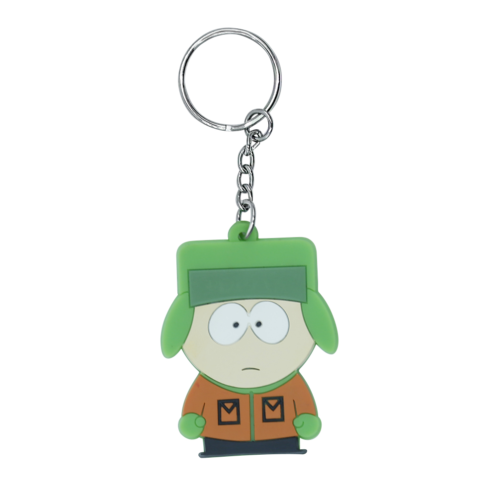 2017 Cartoon soft pvc rubber key chain 3D cartoon keyring