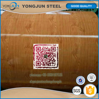 prepainted galvanized steel coil PPGI PPGL wooden style ceiling roofing wall interior material used