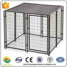 2016 new Used Dog Kennels Or Galvanized Comfortable Wire Dog Kennels For Flamingo Black Color Huilong factory