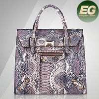 Hot sale Snake skin women tote bags pu leather bags newest design handbag for 2016 SY7186