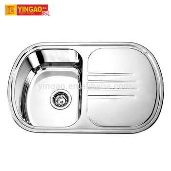 Newly designed stainless steel kitchen sink with drain board