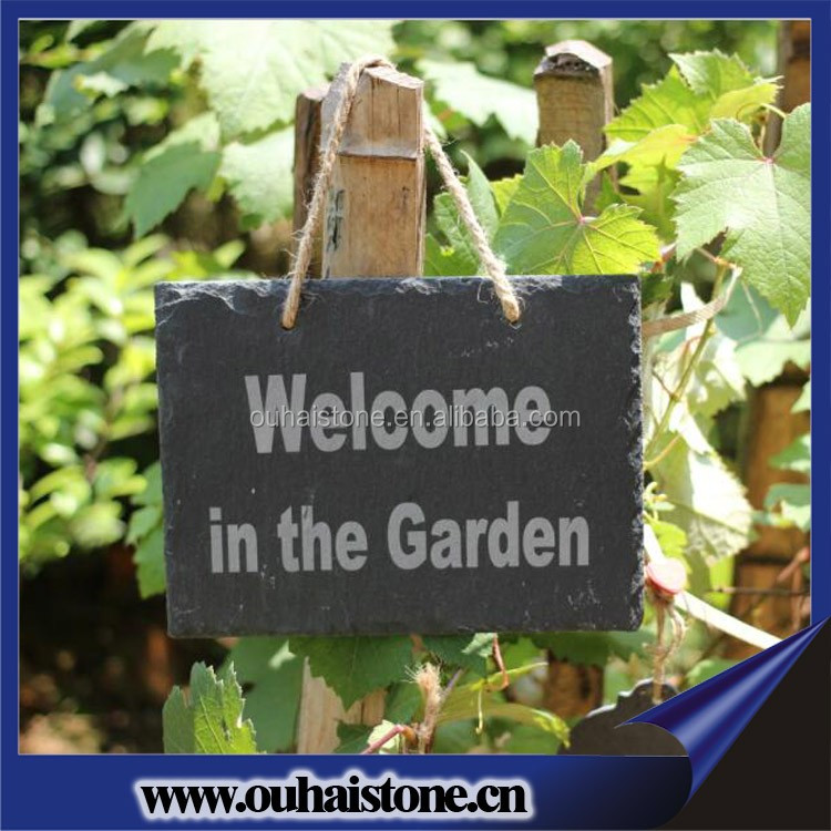 23.5x15cm natural slate garden hanging sign