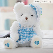 Wholesale teddy bear soft plush doll customized stuffed toy for baby