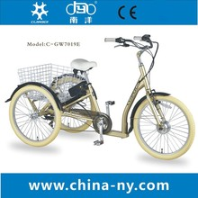 GW7019E electric adult tricycle for disabled/basket shopping tricycle/delivery tricycle