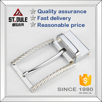 Hot sale in America 35mm chrome release pin buckle with steel wire