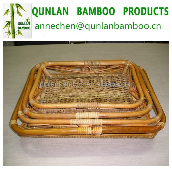 2015 Natural Square Bamboo Basket Weaving Cheap for packaging