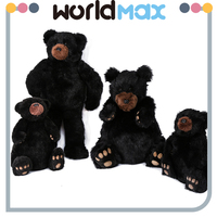New Arrival Soft Cartoon Plush Toy Black Bear For Baby