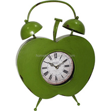 New Home Goods Clocks Customized Retro Heart Decor Metal Gold Table Clock