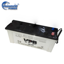 High Capacity n140 Korean Brands 12V 140Ah Dry Car Battery