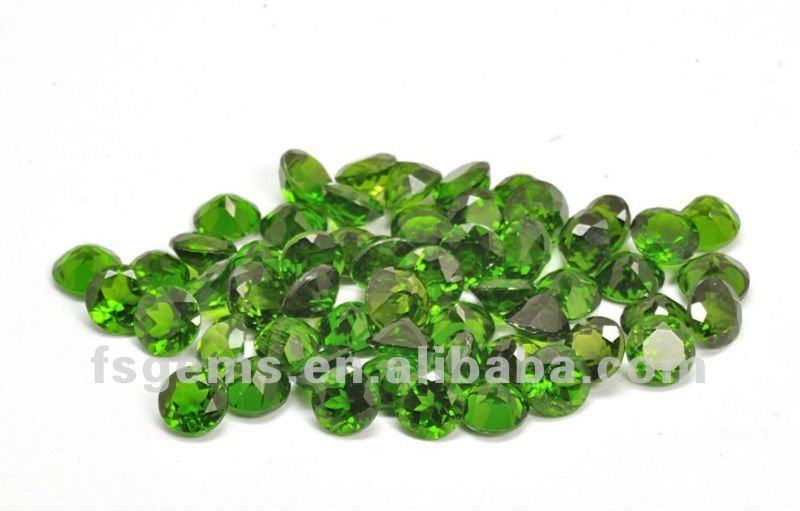 Natural Round Small Size Chrome Diopside Bulk Loose Gemstone Prices Best