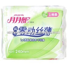 disposable use sanitary napkins with blue absorbency layer