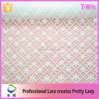 2016 100 Polyester Micro Fiber lace Fabric For Garments white milk silk lace fabric for wedding dress
