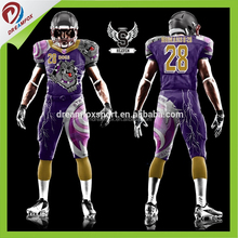 2017 Fashion customized sublimation American football jerseys custom american football uniforms dry fit football jersey