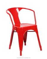 ZD-3000 Metal chair for dining room, chair with high back