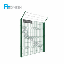 Guangzhou Factory twin wire fence double wire welded mesh fence