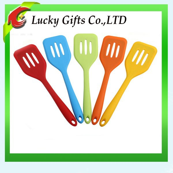 Novelty Silicone Shovel Silicon Rubber Baking Cooking Slotted Turner