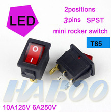 light switch t85 250vac illuminated electric mini rocker switch on off STSP automotive rocker switch for boats cars homes