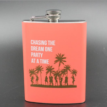 high end eco friendly material stainless steel painting logo hip flask