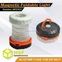 3w Multifunctional Foldable 3*AA ABS Plastic Ultra Light Flashlight For Tent