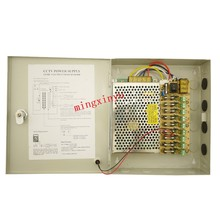 9 channels 12v 20a 250w 9ch CCTV power box switching power supply for Security Cameras 12v 250W