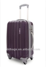 Purple color hard trolley luggage