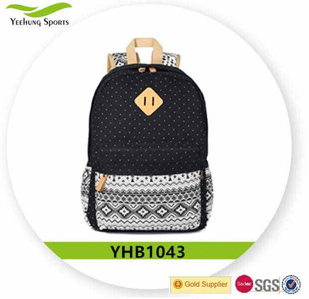 High Quality Designer Canvas School Backpacks For Teenage Girls