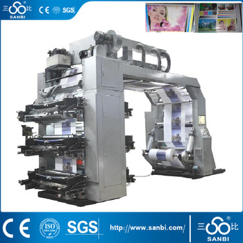 High speed Flexographic Printing Machine(with Chamber doctor blades)