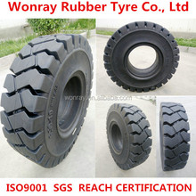 Forklift truck solid tire factory production of high elasticity and low price tire 6.50-10