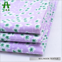 Mulinsen Textile Plain Woven Reactive Printed Stretch Cotton Poplin Fabric Elastic for Shirts and Pants