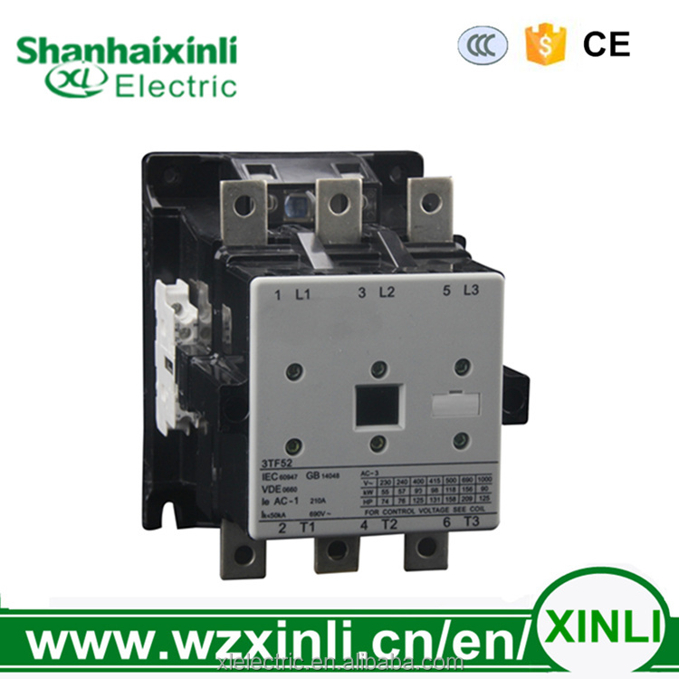 XINLI aibaba 3TF52 silver contact 380v 170A 3p electric contactor ac Siemens Contactor