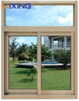 newest design low price aluminium window frame and glass