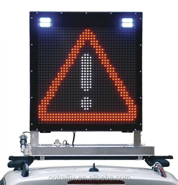 Outdoor Full Color Portable Traffic LED Electronic Message Display Vehicle Mounted VMS Boards, Led Open Sign Board
