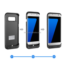 For Samsung Galaxy S7 Edge Backpack Battery Case Cover 5000mAh Black