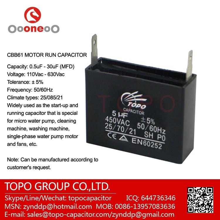 Cbb61 20uf 250vac Capacitor 2508521 Buy Cbb61 Capacitor