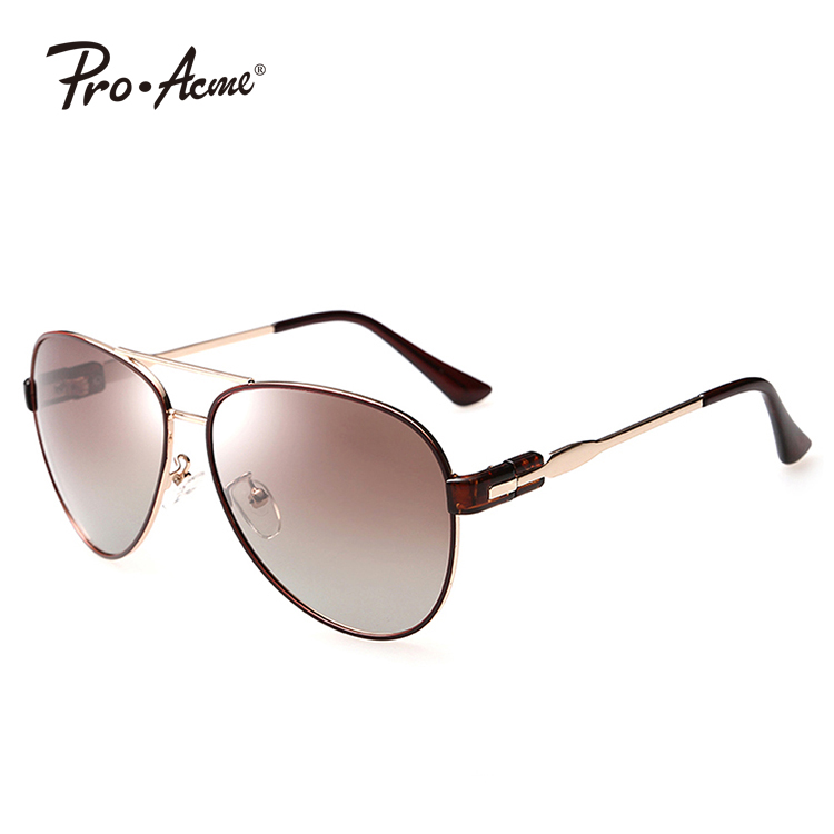 Pro Acme Aviator Style Sunglasses with Metal Frame Polarized Lens UV400 Protect PA0446