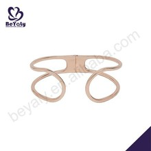 Different style rose gold plated wedding bangles pictures