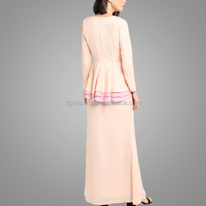 2017 Baju kurung malaysia model fashion muslim women clothing