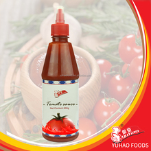 OEM Bottle 500ml Tomato Ketchup Sauce Dipping For Restaurant