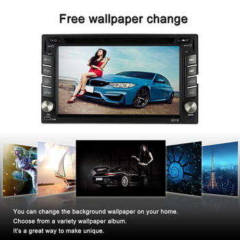 "6.2"" Universal 2 Din HD Car Stereo DVD/USB/SD Player GPS Navigation Bluetooth Multimedia AF/FM Radio Entertainment"