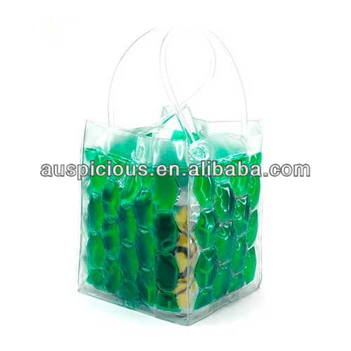 2014new products personalized wine gift bags liquid filled pvc ice wine bag