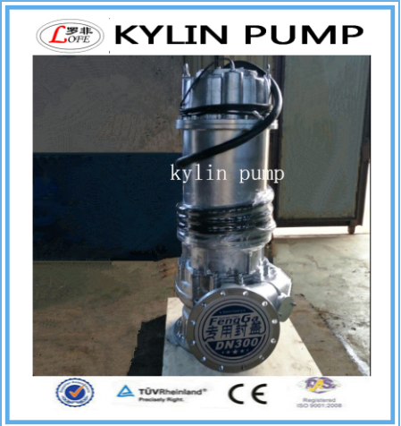 kylin ss316 stainless steel 1500m3/h 15m 90KW submersible sewage pump