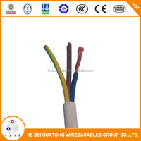 copper conductor pvc electric wire 3x4mm2 heavy duty electric wire manufacture