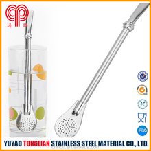 Factory Wholesale Eco-friendlyTea Strainer spoon,Stainless Steel Tea Straw can filter