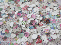 Customized Patterns Thousands of Kinds of buttons for craft/garment decoration Rustic/painting/Printed wood material
