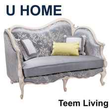 2014 U HOME french style fabric leather sofa (H622) france Divan