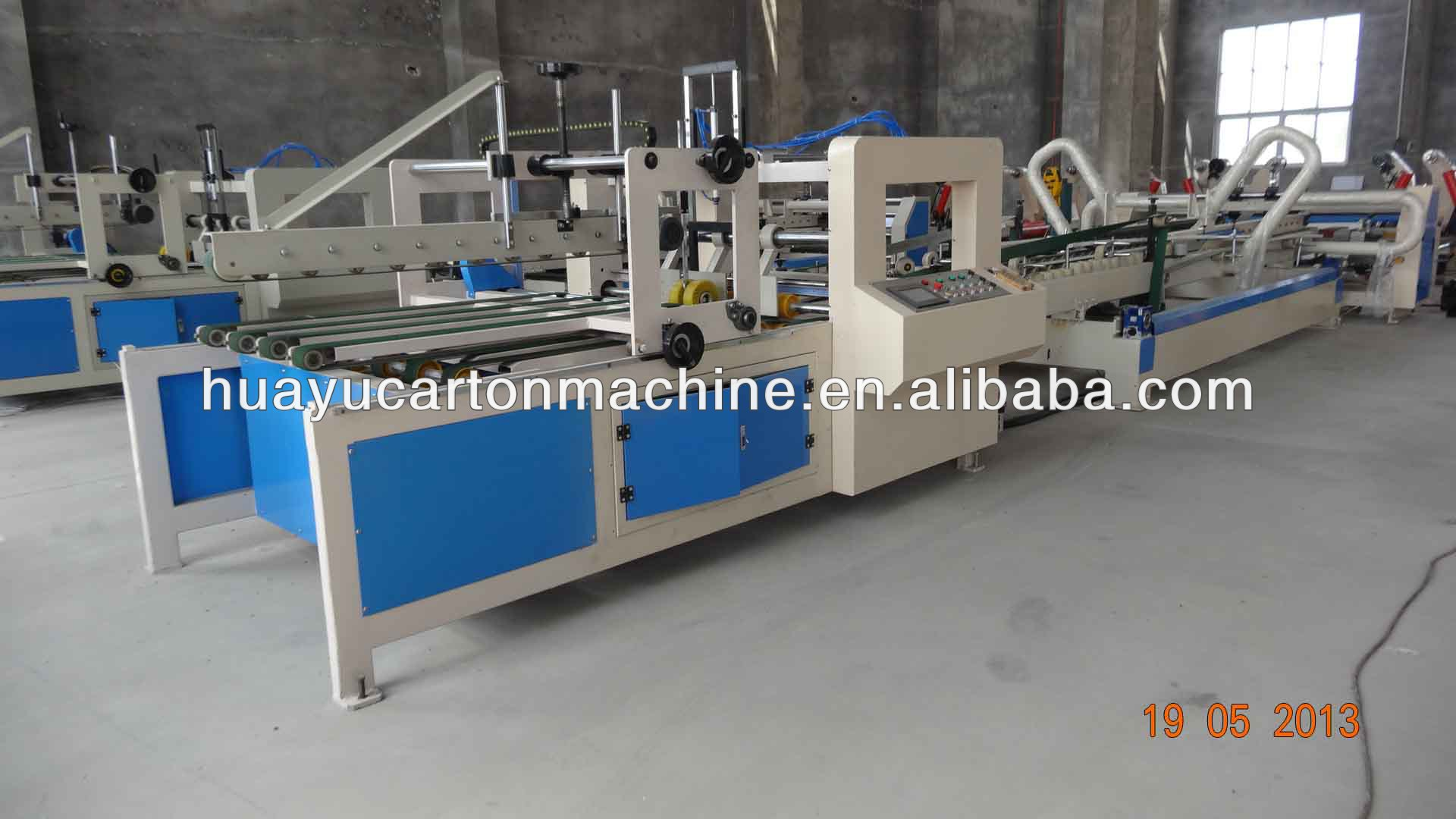 QRE Kinds of automatic carton folding gluing machine for carton box
