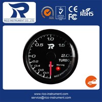 Rico 60mm clear lens white LED stepping motor Turbo Boost Gauge BAR