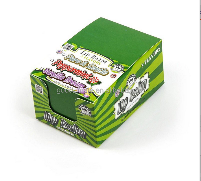 Retail Shop Lip Balm Display Cardboard Counter Carton Box