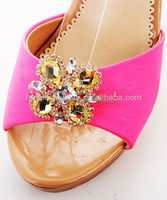 2014 the Latest Rhinestone Summer Ladies High heel decorative shoe bows and buckles